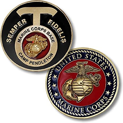 Marine Corps Base Camp Pendleton, CA Challenge Coin