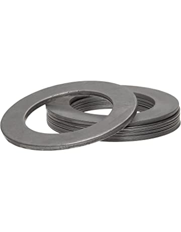 1 ID Matte Finish Hard Temper 1-1//2 OD 1008//1010 Carbon Steel Notched Shim AISI 1008//AISI 1010 0.025 Thickness Pack of 10