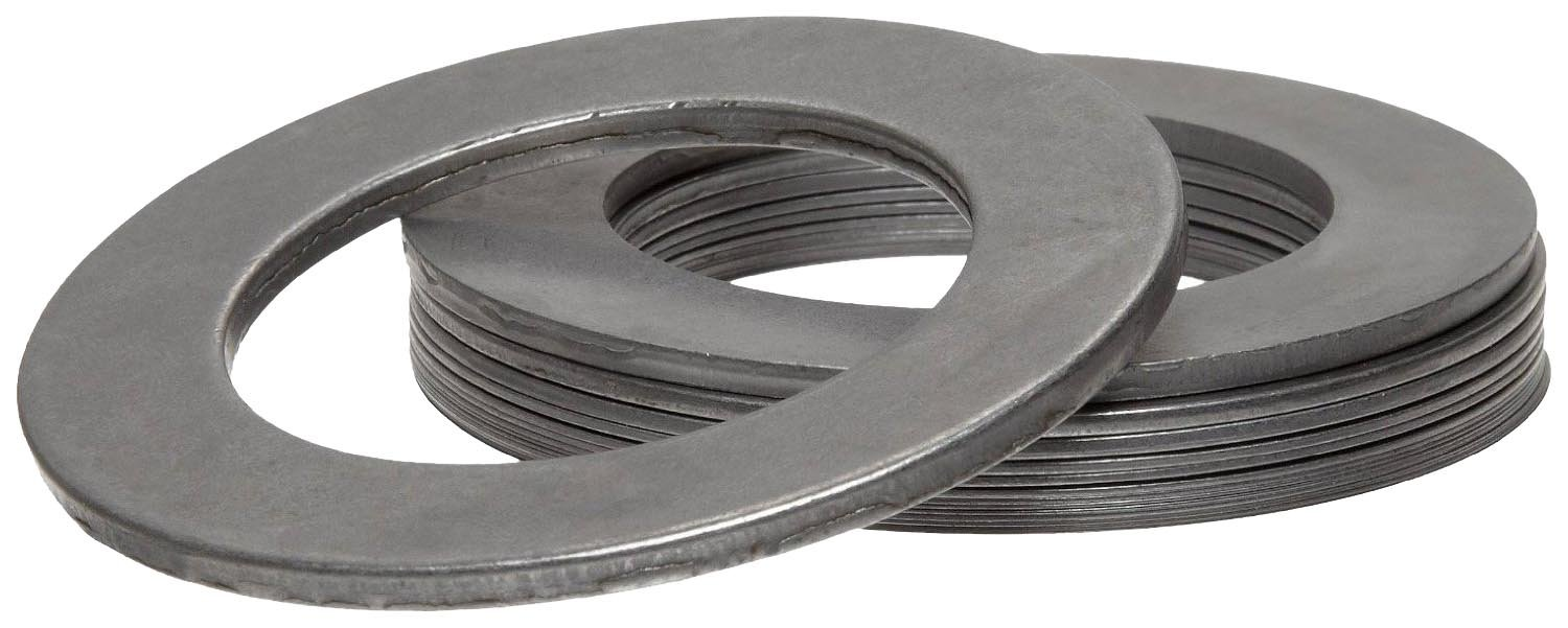 Steel Arbor Shim Assortment Kit, Matte, Full Hard, AISI 1008-1010 For Chemistry, 1-1/2'' ID, 2-1/8'' OD (Pack of 19) by Small Parts