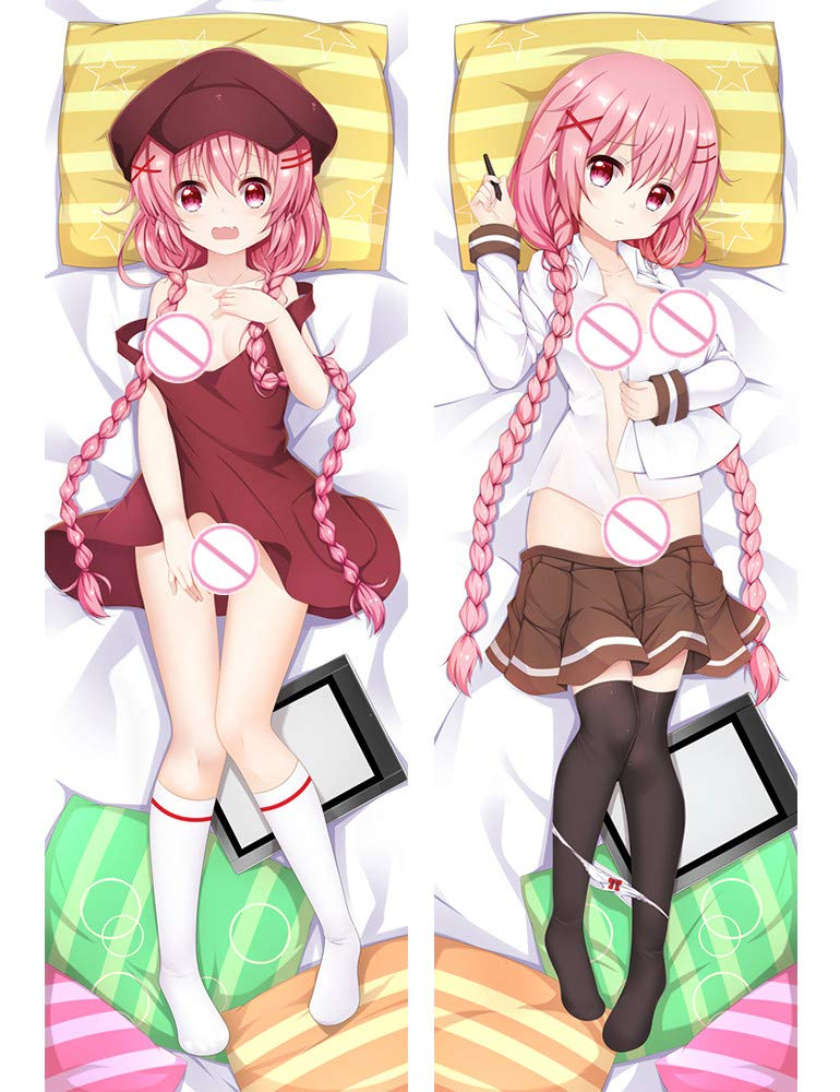 Rangnis Moeta Kaorako-Comic Girls 160 x 50cm(62.9in x 19.6in) Peach Skin Pillowcase
