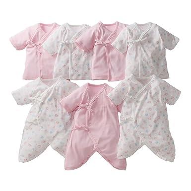 6202ff1be5001 Amazon.co.jp: (ニッセン) nissen 新生児 ベビー 肌着 綿100% 7枚 ...