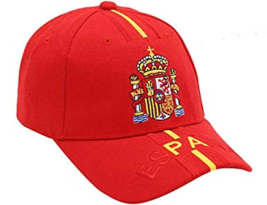 Ankel Gorra Escudo de España Mod.10 Roja: Amazon.es: Ropa y accesorios
