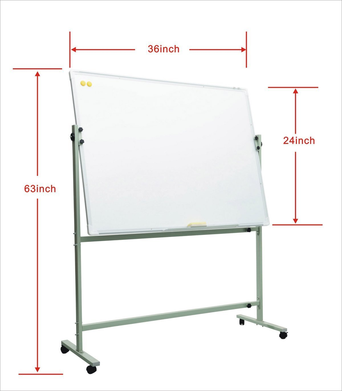 FYHEART Magnetic Mobile Dry Erase Whiteboard With Stand For Classrooms, Offices, Conference Rooms And Home … (36''x24'')