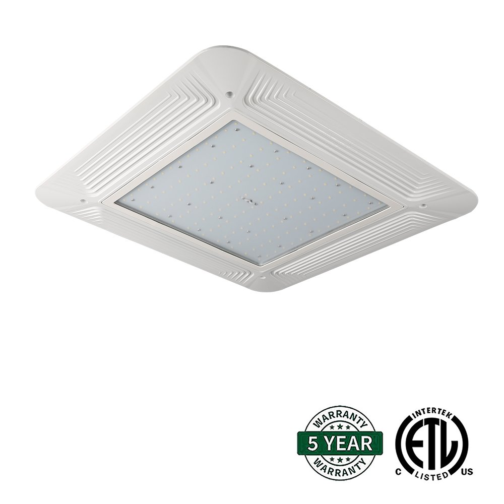 Hykolity 200W LED Canopy Light Commerical Grade Weatherproof Outdoor Gas Station High Bay Carport Ceiling Light Super Bright 23800lm 5700K DLC Qualified