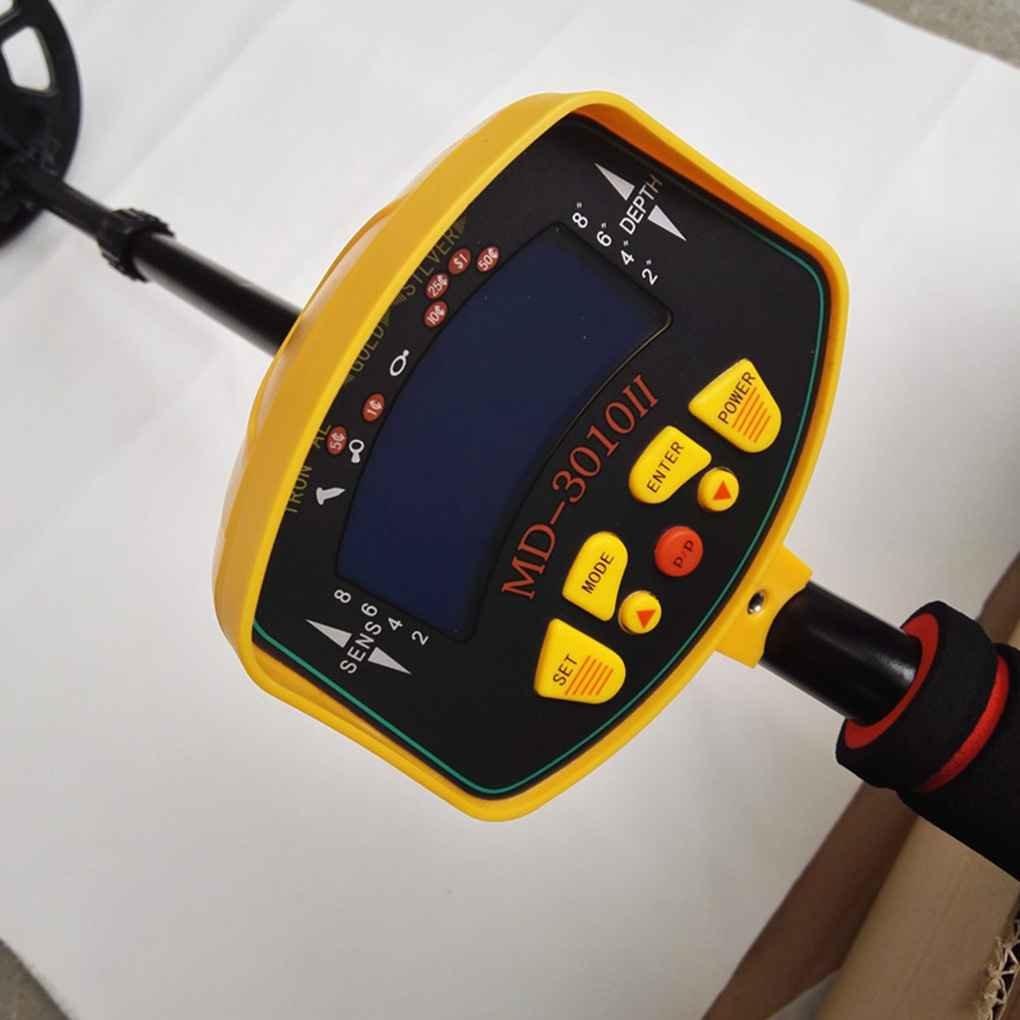 Onepeak Detector de Metales subterráneos de Alta sensibilidad Pantalla LCD Gold Silver Finder Treasure Pinpointer: Amazon.es: Jardín