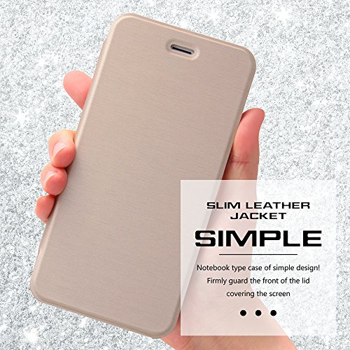 Slim Style Pro Finish Leather Type Case for iPhone 6 Plus (Silver)
