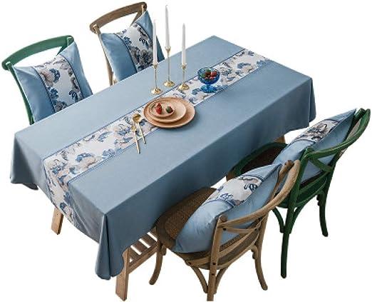 ISWW - Servilletas nórdicas impermeables, tela de algodón, lino, pequeños manteles frescos, flores de lino: Amazon.es: Amazon.es