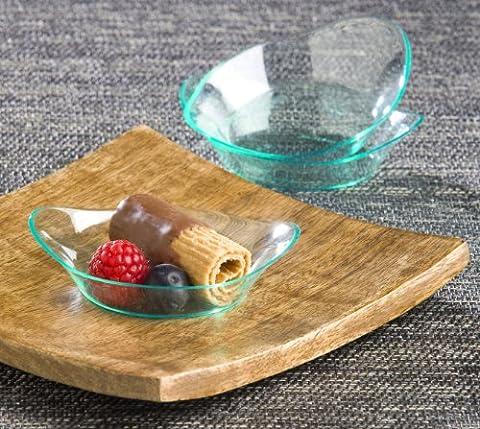 EMI Yoshi Koyal Relish Dish, 2.5-Inch, White, Set of (Piatti Yoshi Plastica)