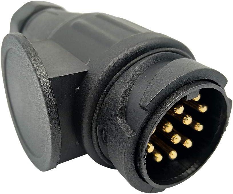 NEW SUN 13 Pins Plug Socket Adapter Kit N Type Trailer Caravan Electrics Converter
