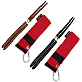 Hawk Zing Detachable Collapsible Foldable Wood Chopsticks Rosewood/Ebony/Chicken-Wing Wood Optional Portable Outdoor Utensils