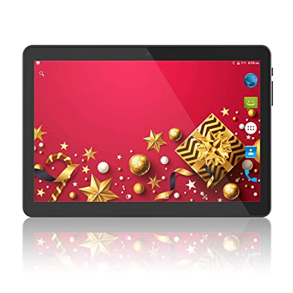 Android Tablet 10 Pulgadas, 2GB + 32GB, 3G Phablet Desbloqueado con Dos Ranuras para Tarjetas SIM, cámara Doble de 2MP + 5MP, Quad Core 1.3GHz, WiFi ...