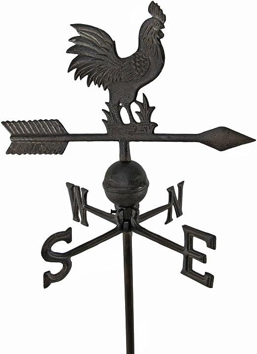 Envejecido acabado hierro fundido gallo veleta jardín juego: Amazon.es: Jardín