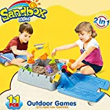 Sealive 11 pcs Luxury Castle Sanbox,Kids Children Outdoor Sand Beach Toys Play Set
