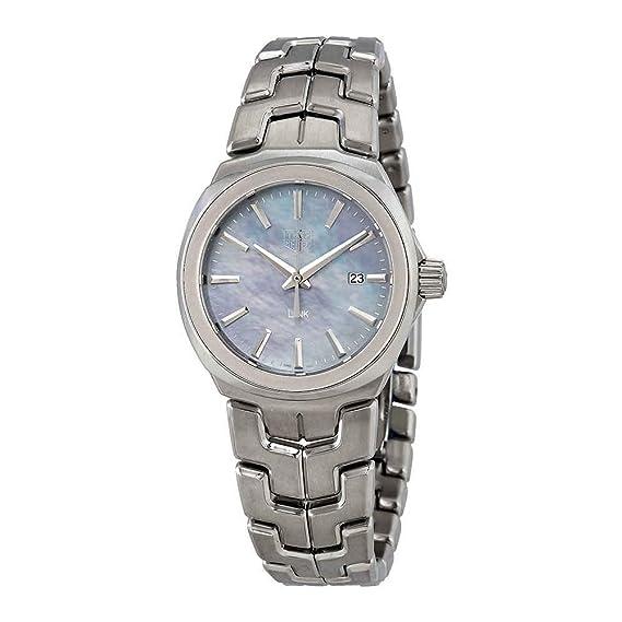TAG Heuer Link Reloj de mujer cuarzo 32mm correa de acero WBC1311.BA0600: Amazon.es: Relojes