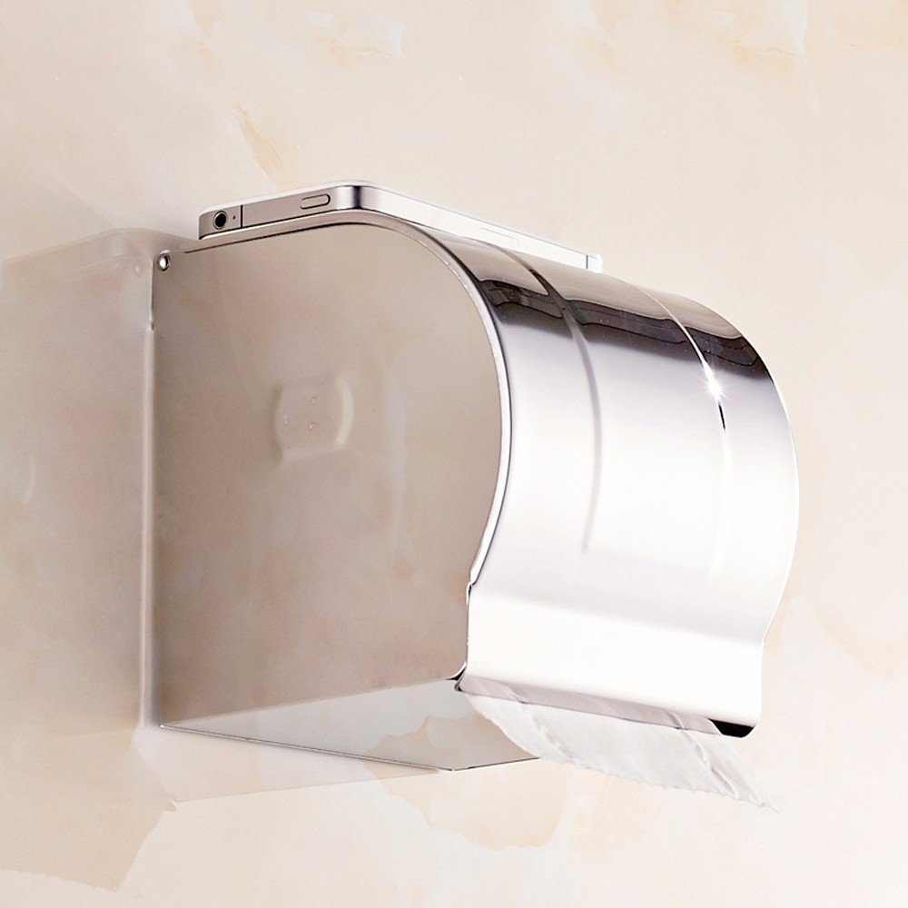 SFSYDDY-Stainless Steel Paper Towel Box Lower Opening Paper Towel Rack Chrome Coated Carton Waterproof Wrapping Sanitary Carton