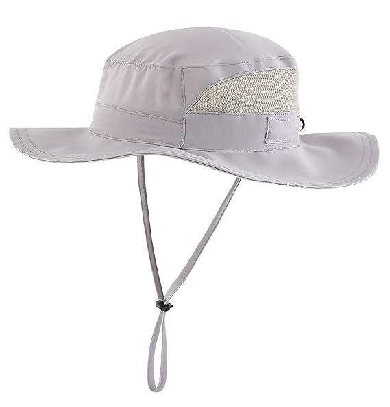 470bccd09422d Connectyle Men s Outdoor Mesh Boonie Sun Hat Summer Wide Brim UV Protection  Fishing Hat Safari Cap