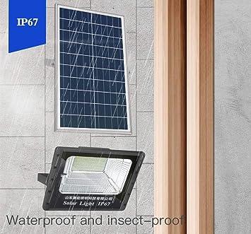 LED luz de inundación Solar al Aire Libre iluminación de Control de luz de jardín Control Remoto Inteligente luz de Calle Rango de Control Remoto 10 Metros IP67 Impermeable de Aluminio Grueso: