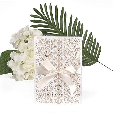 Cartoline Auguri Matrimonio : Ewtshop set di biglietti di invito per matrimonio biglietti di