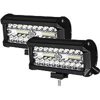Faro Trabajo LED 7'' 800W Focos LED Tractor 24000LM 6500K IP68 Impermeable 9-32V 2PCS Faros de Trabajo para Camión ATV…