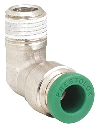 1//2 Push-to-Connect Tube x 3//8 Male NPTF 1//2 Push-to-Connect Tube x 3//8 Male NPTF Parker Hannifin Corporation Parker Hannifin W172PLP-8-6 Prestolok PLP Nickel Plated Brass Male Branch Tee Swivel Push-to-Connect Fitting
