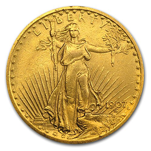 - 1907 $20 St. Gaudens Gold Double Eagle XF G$20 Extremely Fine