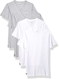 cd3f14181286 Lacoste Men's 100% Cotton V-Neck T-Shirt, 3 Pack at Amazon Men's ...