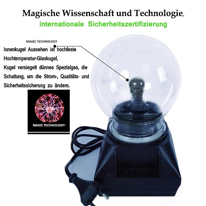 Enkman Glas Plasma Ball Kugel Blitzlicht Lampe Party magische Kugel ...