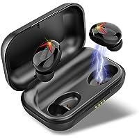 Bluetooth Kopfhörer, V5.0 Bluetooth Kopfhörer in Ear Kabellos Sport Ohrhörer, Wireless Earbuds Deep Bass HD-Stereo with 120H Spielzeit, Touch-Control, CVC8.0 Noise Cancelling Kopfhörer mit Mikrofon