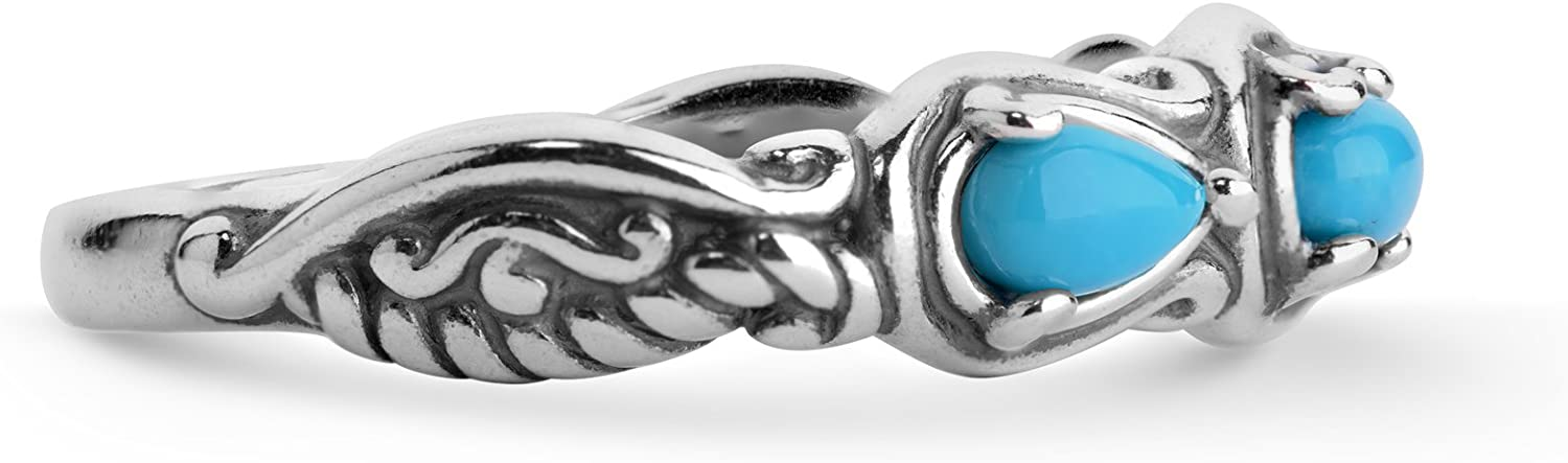 Carolyn Pollack Sterling Silver Multi Gemstone Choice of 8 Different Colors 3 Stone Ring Size 5 to 10