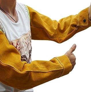 Mangas de soldadura de piel resistente al calor, un par de protectores de brazo de