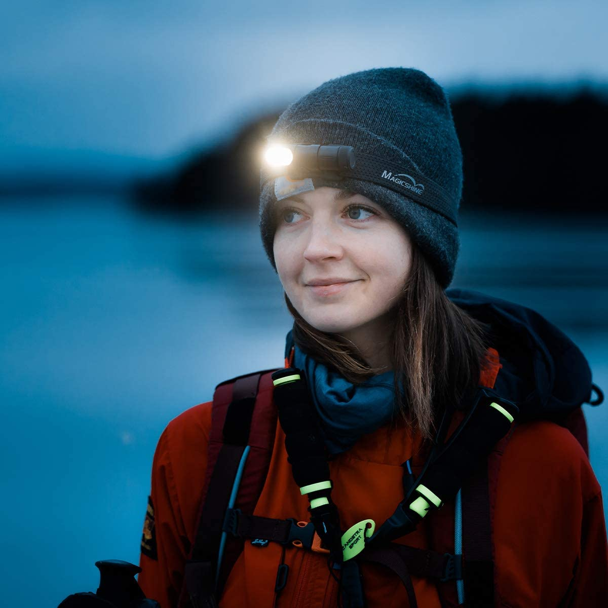 IPX8 Waterproof headlamp 400 Lumen Neutral White Light CRI 90 Work Light Lightweight for Running bushcraft 105 Lumen red LED Magicshine MOH 15 Headlamp Hiking Camping Outdoor Sports
