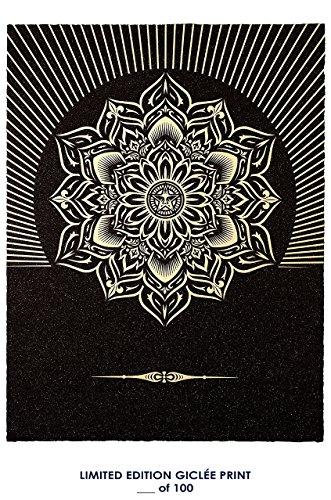 RARE POSTER graffiti SHEPARD FAIREY obey lotus diamond 2013 REPRINT giclee #'d/100!! 12x18