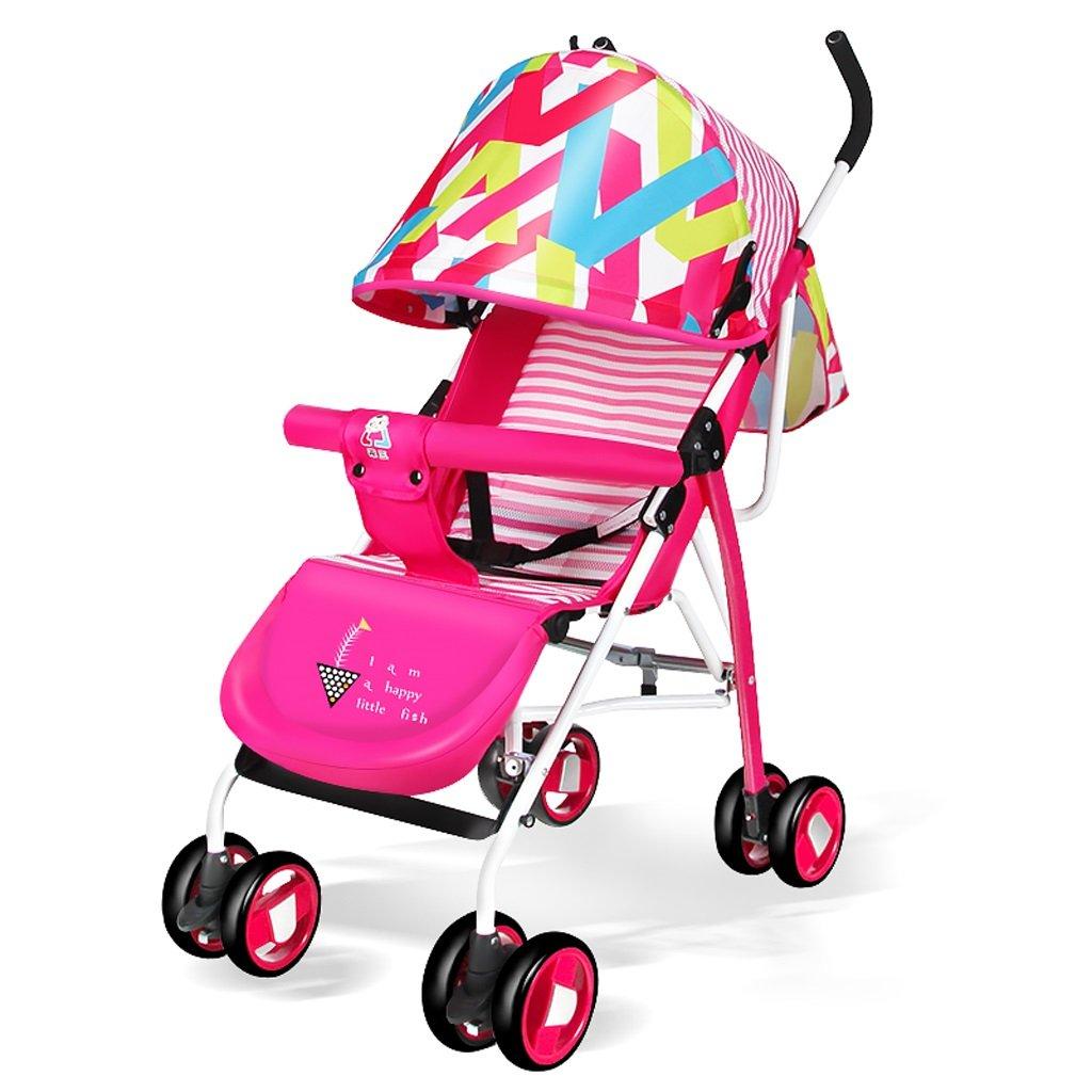 赤ちゃんのベビーカー軽量ポータブル折り畳み式シットバック子供用手押し車(赤)680 * 460 * 1040mm ( Color : Red ) B07BTWG8YF