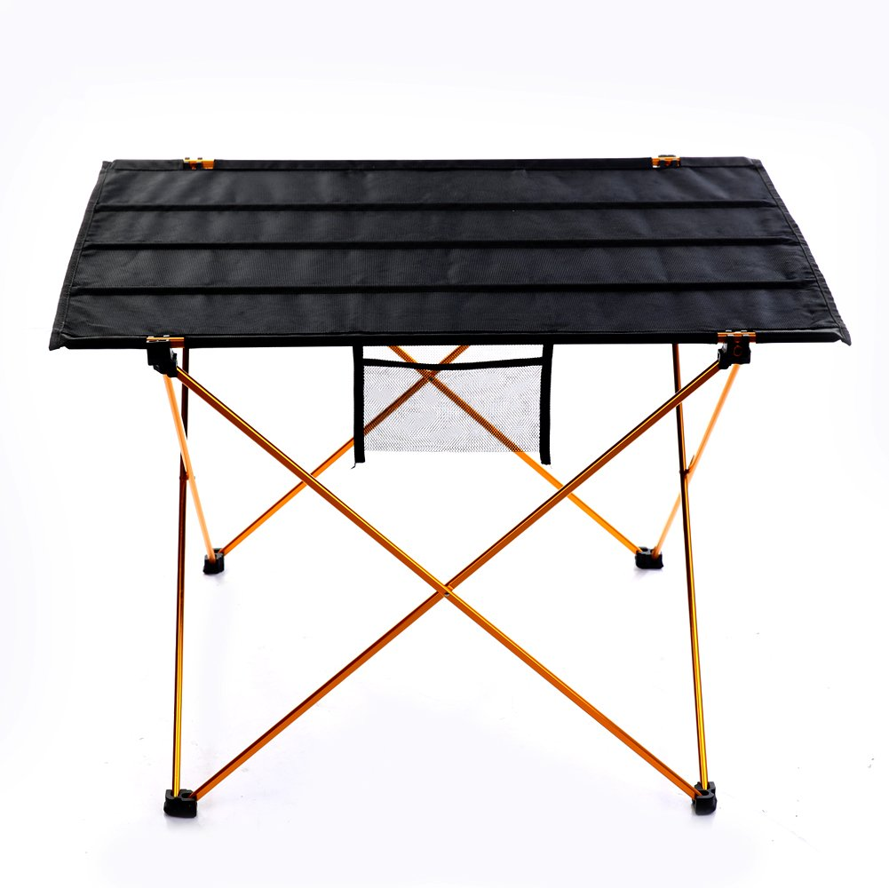 Ju&Ju Outdoor Ultralight Portable Folding Desk Aluminum Alloy Table for Fishing Picnic Durable Folding Table with Carrying Bag KeNuoDe