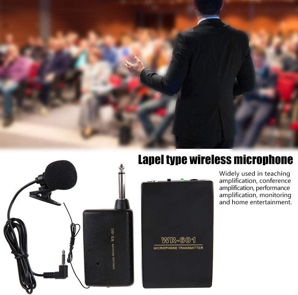 hablar transmisor FM Receptor Altavoz Clip de solapa Micro con auriculares Alcance de transmisi/ón de 15M con receptor//transmisor para ense/ñar Sistema de micr/ófono de solapa con clip inal/ámbrico viv
