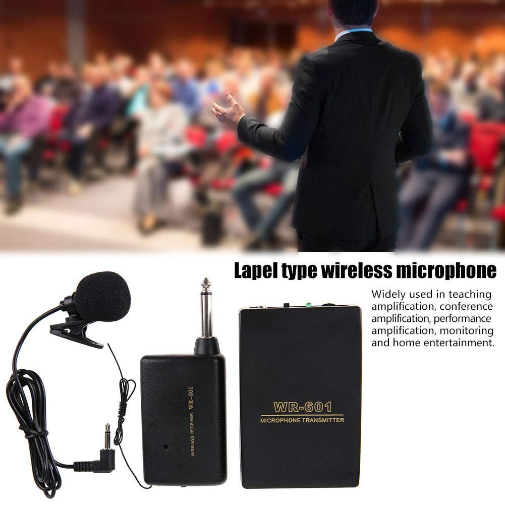 Microphone Clip sans Fil Portable Syst/ème de Microphone Casque sans Fil avec /Émetteur etc. Performances R/écepteur pour Enseignement Microphone sans Fil Conf/érences
