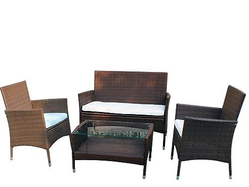 XINRO 8tlg. Gartenmöbel Lounge Möbel Lounge Set günstig Polyrattan ...