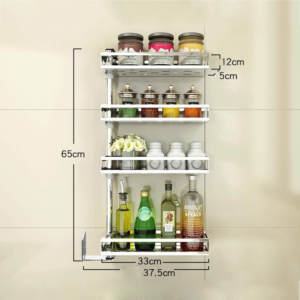 ZYN Edelstahl Punch Kitchen Corner Shelf Wand-Drehbare Gewürzregal Wand Storage Supplies