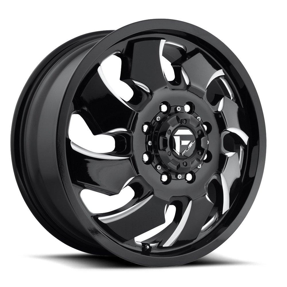 Fuel D574 Cleaver Dually 20x8.25 8x165.1 +105mm Black/Milled Wheel Rim