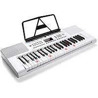 Vangoa VGK6100 61-Tasten-LCD-Display Musik Elektronische Tastatur Klavier-Bundle mit X-Style Bank, Schwarz