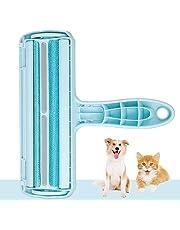Kinkaivy Tierhaarentferner Fusselrolle, Fusselbürste für Hundehaare Katzenhaare, Tierhaar fusselroller Wiederverwendbar, Effektiv für Möbel, Bettwäsche, Couch, und mehr.