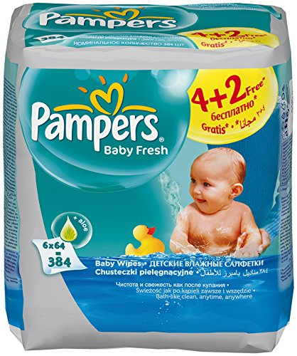 Pampers Baby Fresh 384pieza(s) toallita húmeda para bebé - toallitas húmedas para bebé