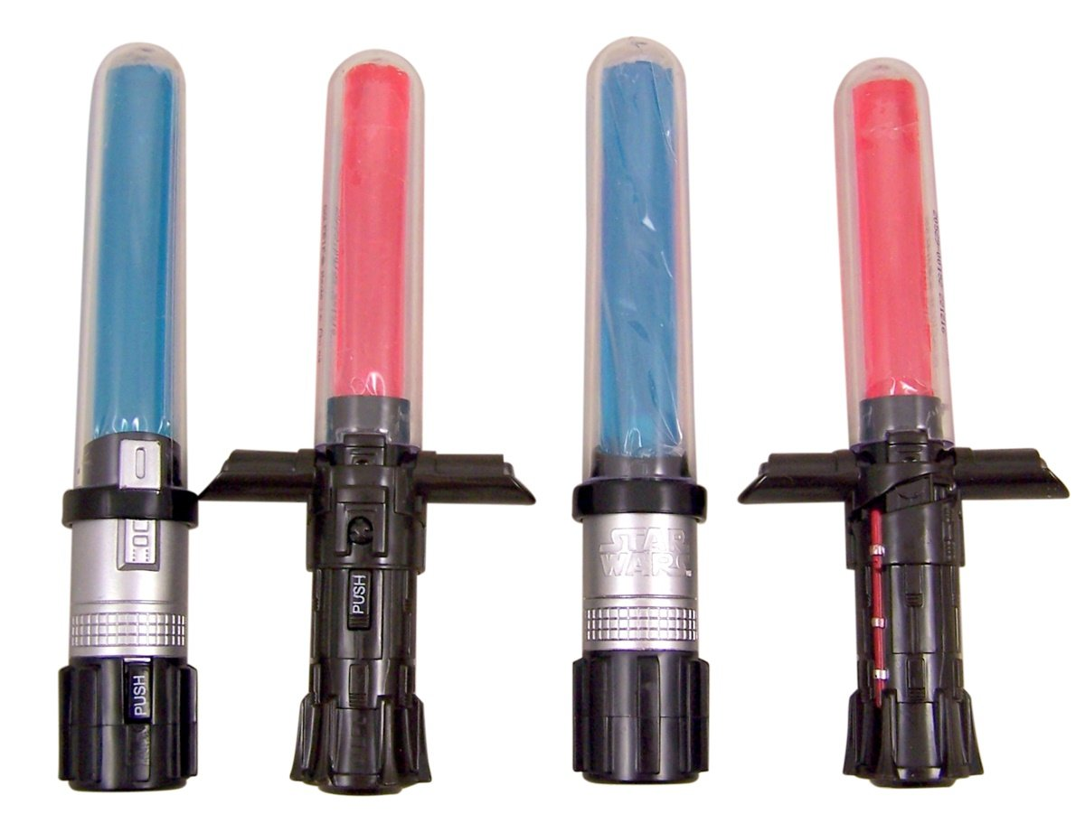 Disney's Star Wars Light Up Lightsaber Candy Suckers, Assorted Fruit (Pack of 40)