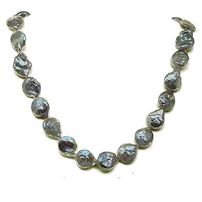 8fcc0ba43974 El Coral Collar Perlas Akoya Color Melocotón Barrocas 12 14mm