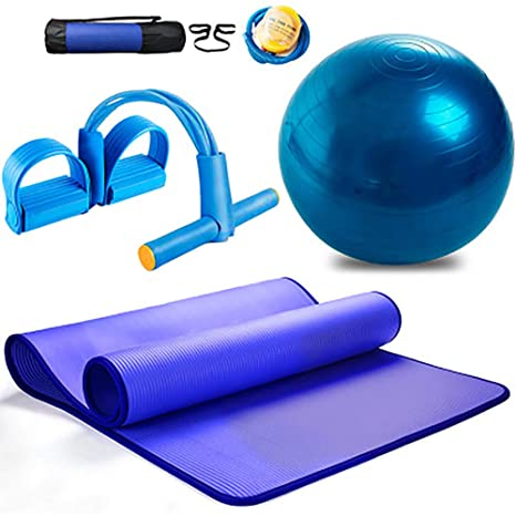 Amazon.com : ZBVW Yoga Set Kit 3-Piece 1 Yoga Mat Yoga Ball ...