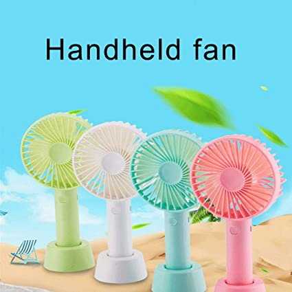 BeimYcW Mini Portable Home Office Desktop USB Rechargeable Handheld Cooler Personal Cooling Fan Study Outdoor Travel Blue