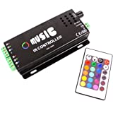 Cablematic - Controlador para tira de LEDs RGB de 12A Music IR Controller