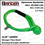 Ranger Soft Shackle Rope Dyneema Synthetic 3/8 Inch (29,000 LBs Breaking Strength, WLL 7500 LBs ) by Ultranger
