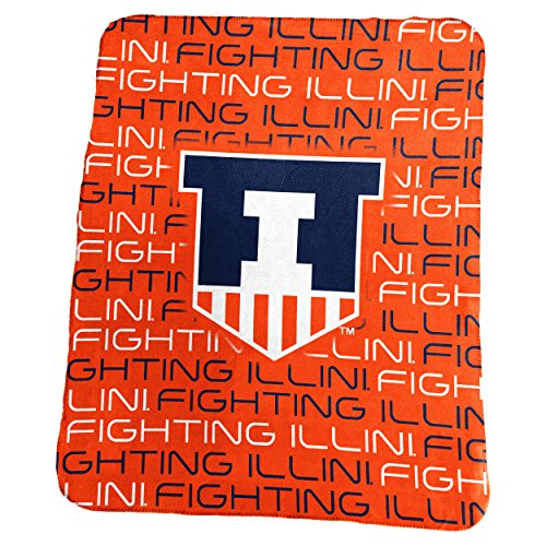 Logo Brands NCAA Illinois Illini Classic Fleece, One Size, Carrot (Illinois Fleece Illini)
