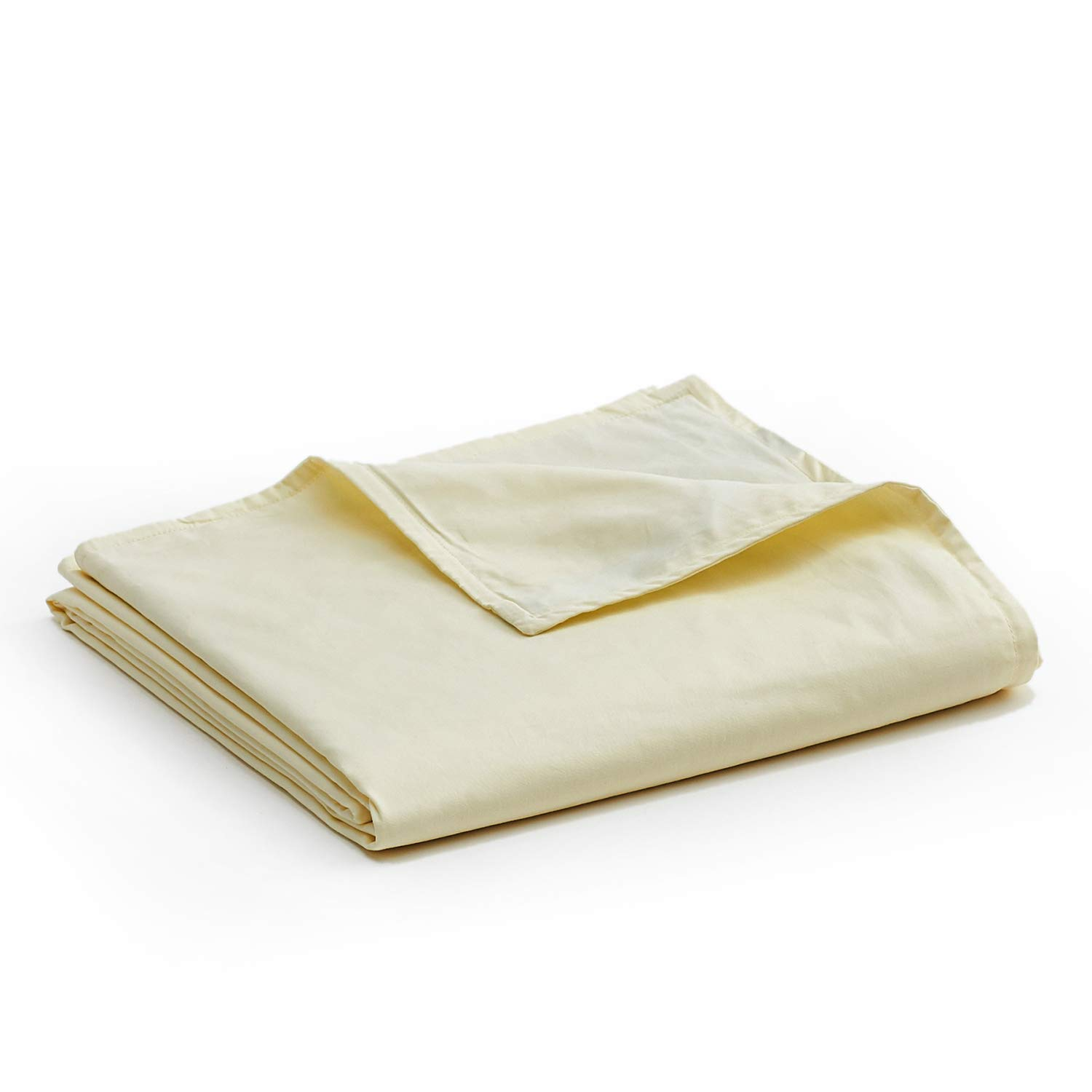 YnM Cotton Duvet Cover for Weighted Blankets (60''x80'') - Beige Print